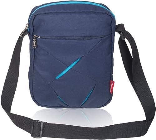 Polyester Messenger Bag Navy Blue Teal Blue 40051669007