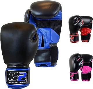 Combat Corner C2 Boxing Gloves for Men and Women - Kickboxing, MMA, Muay Thai Sparring Training Gloves