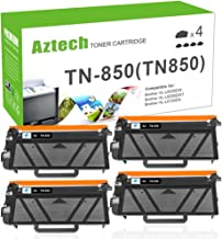 Aztech Compatible Toner Cartridge Replacement for Brother TN850 TN-850 TN 850 (Black, 4-Pack)