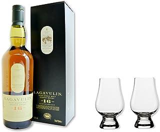 Lagavulin Whisky Single Malt Scotch 16 Jahre 43% 0,7 als Set mit 2 Glencairn Nosing Gläser