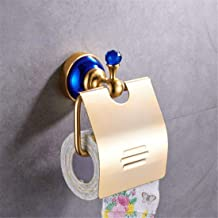 Print Yoga Mat Ancient European Style Blue, Core Aluminum Accessories for Bathroom, Toilet Paper, Soap Rack Fort,Ring of Towel,Colour Name:Single Cup a 瑜伽垫 (Color : Toilet Paper Holder)
