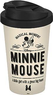 Disney Minnie Mouse 13761 Disney Mickey & Minnie Vintage Coffee to Go Mug Coffee Cup Polypropylene 400 ml Beige