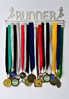 Running Medal Display - Running Race Medal Holder / Hanger - Stainless Steel - 3 Hang Bars