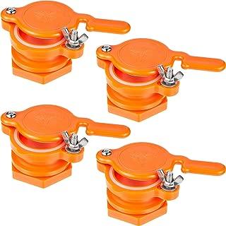 Mudder 8 Pieces Honey Gate Valve Honey Extractor Tap Beekeeping Bottling Tool for Buckets and Extractors Equipment, Orange