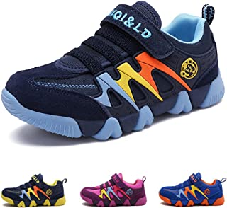 Boys Lightweight Sneakers Girls Strap Athletic Running Shoes Kids Sneakers Outdoor (Toddler/Little Kid/Big Kid)