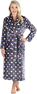 PajamaMania Women's Plush Fleece Long Bathrobe