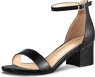 Women's Block Heels, Ankle Strap Low Heel Pump Sandals