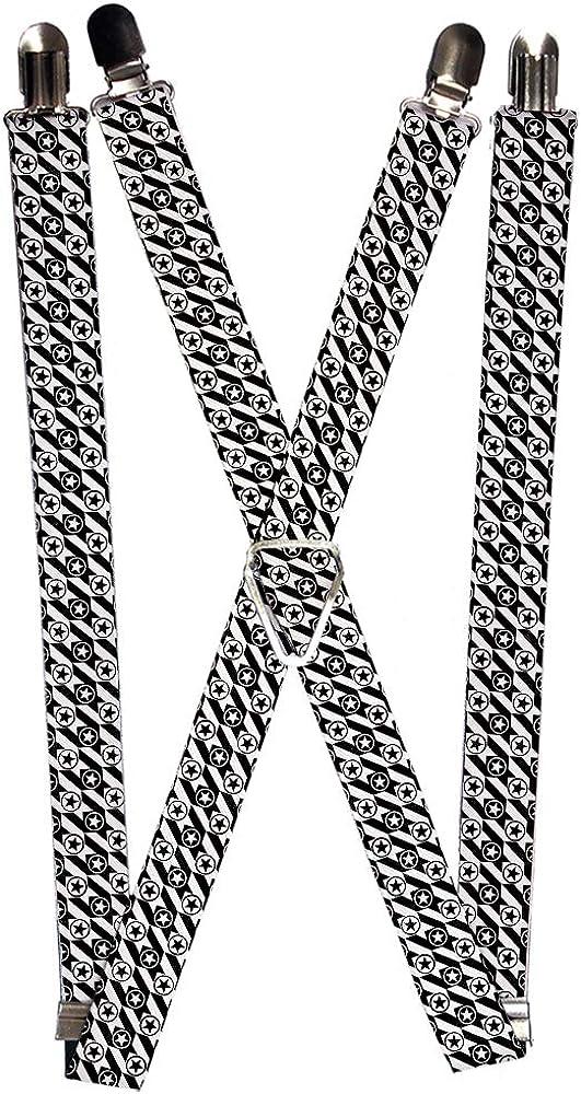 Buckle-Down Unisex-Adult's Suspender-Houndstooth