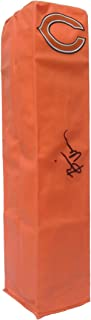 Brian Urlacher Chicago Bears Autographed Signed Full Size Logo Football Touchdown End Zone Pylon with Exact Proof Photo of Signing and COA- UNM University of New Mexico Lobos