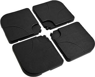 Outsunny Base de Sombrilla o Pie para Parasol Tipo Soporte de 4 Piezas de plástico Negro