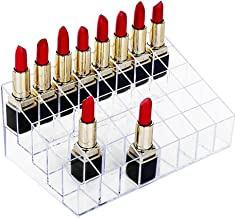 Lipstick Holder, HBlife 40 Spaces Clear Acrylic Lipstick Organizer Display Stand Cosmetic Makeup Organizer for Lipstick, B...