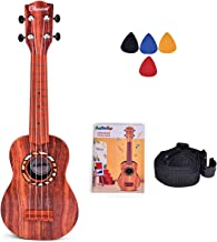 FUN LITTLE TOYS 21 Inch Ukulele for Kids, Musical Instruments for Kids with Strap, Picks and Tutorial, Learning Educationa...