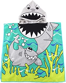 Kids Hooded Beach Bath Towel for Age 2-7 Years - Swim Pool Coverup Poncho Cape Multi-use for Bath/Shower/Pool/Swim 24