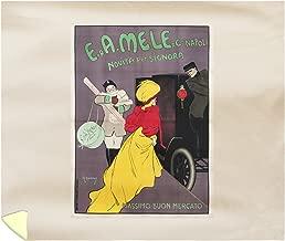 Mele - Massimo BUON Mercato Vintage Poster (Artist: Metlicovitz) Italy c. 1909 58282 (88x104 King Microfiber Duvet Cover)