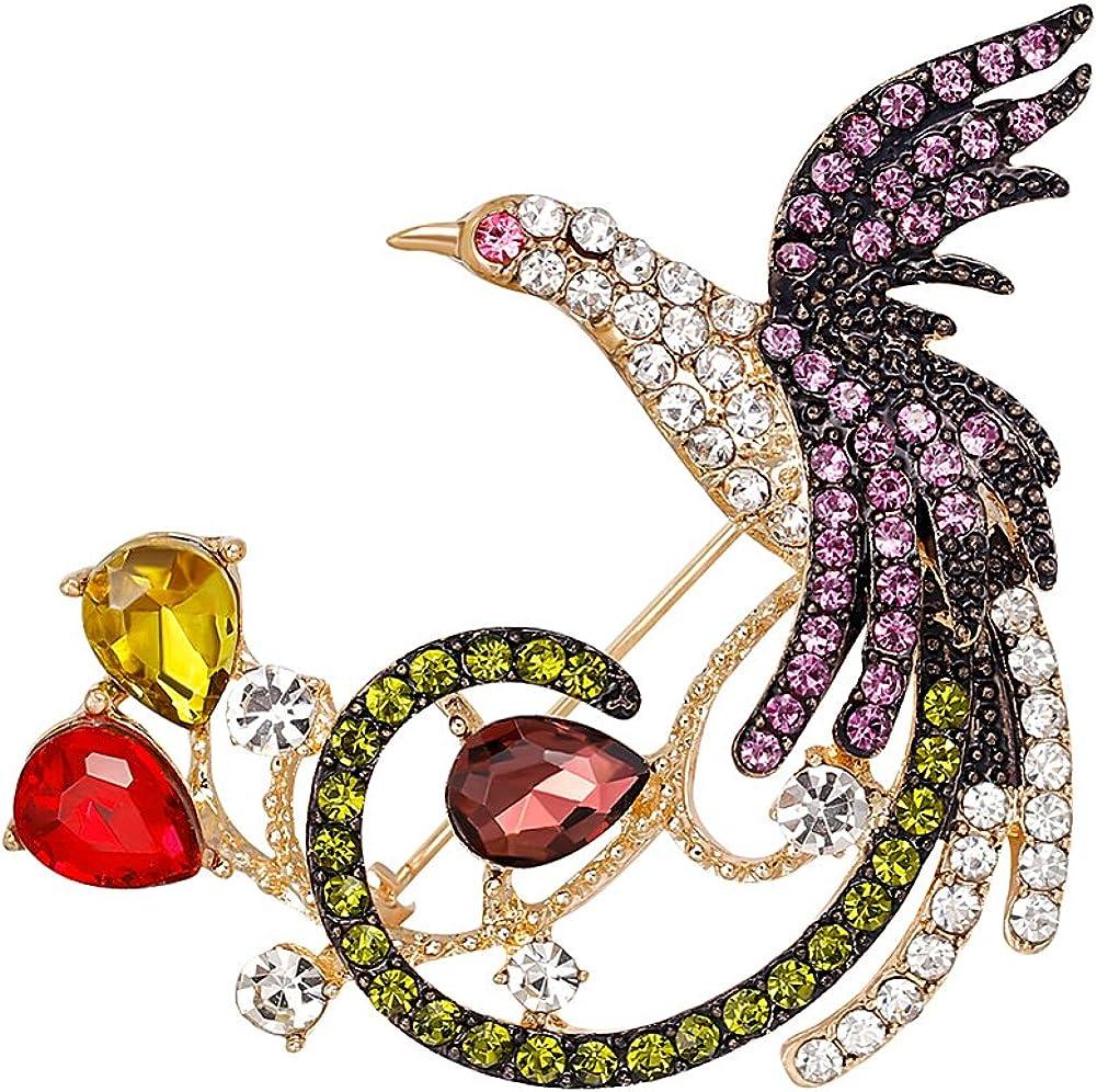 Brooch Pin for Women, Fashion Multicolor Rhinestone Grape Fruit Brooch Pin Evening Party Jewelry - Multicolor