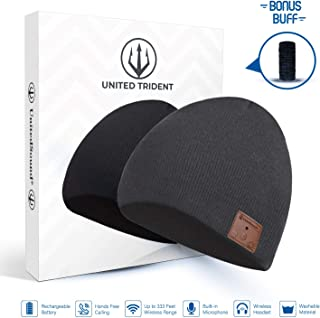 Bluetooth Beanie Hat Headphones | Bluetooth 5.0V Wireless Winter Hats | Cap with Detachable Built-in Mic and Speakers | Hands-Free for Outdoor Sports | Unique Christmas Gift | Unisex