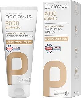 Peclavus Fußcreme Silber Podo diabetic Fußpflegecreme, 100ml