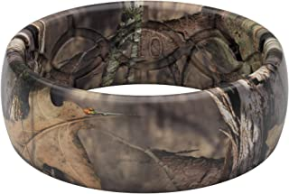 Groove Life - Silicone Ring for Men and Women Wedding Rubber Band with Lifetime Coverage, Breathable Grooves, Comfort Fit, and Durability - Original Camo Mossy Oak