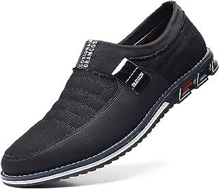 COSIDRAM Zapatos de hombre para el tiempo libre, mocasines de piel, transpirables, cómodos, zapatos de senderismo, moderno...