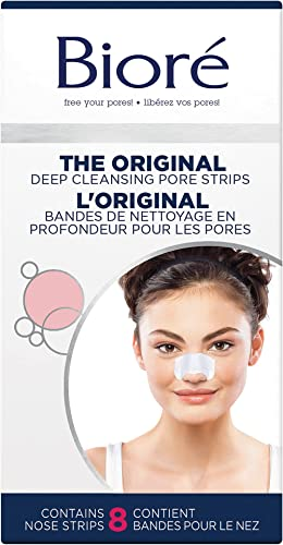 Bioré Deep Cleansing Pore Strips for Instant Pore Unclogging and Blackhead Removal (8 Count)