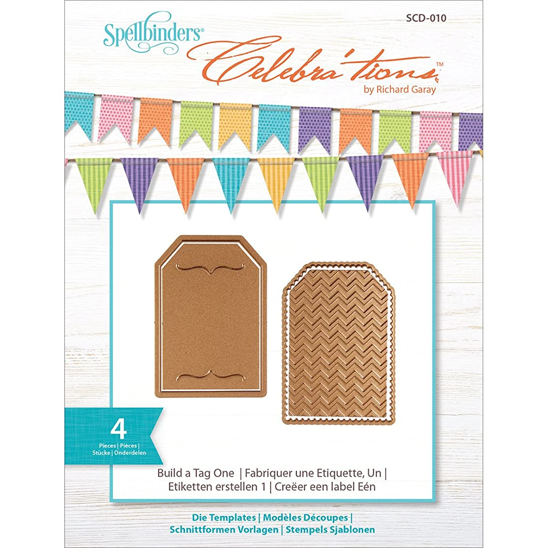 Spellbinders SCD-010 Celebrations Build-a-Tag One Etched/Wafer Thin Dies