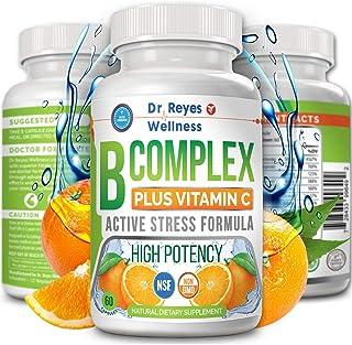 Super Active Vitamin B Complex with Vitamin C   Doctors Complejo B   Complete B12 B1 B2 B3 B6 B7 B9 Folate   Methyl Best P...