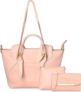 Shining Star Women's Handbag With Sling Bag & Clutch (Set of 3)