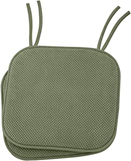 Ellington Home Non Slip Memory Foam Seat Cushion Chair Pads With Ties - 17
