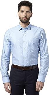 Park Avenue Solid Cotton Medium Blue Slim Fit Ainsley Full Sleeve Shirt