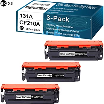 with Chips Black Blue Magenta Yellow-Combination Compatible Toner Cartridges for HP 131A CF210A Replacement for HP Color Laserjet M251N M276NW CM1312 MFP CM1312NFI MFP CP1215 CP1215N CP1515 Printer
