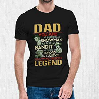 Dad You Are Awesome As Snowman Bandit Funny As Justice You Are My Favorite Legend Vintage Retro Shirt Short-Sleeve | Long Sleeve Shirt | Premium Short Sleeve Shirt | Hoodie | Sweatshirt | Tank-Top