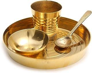 J.k. Small Size Brass Bhog Thali for Laddu Gopal ji -Set of 4 Pieces