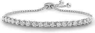 Cubic Zirconia Adjustable Bolo Bracelet for Women