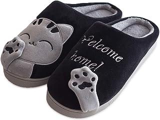 Zapatillas Casa Mujer Invierno Gato Pantuflas Hombre Cerradas Animales Calzado Estar Calientes Divertidas Suaves Viaje Unisex