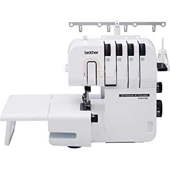 Brother Strong and Tough Serger, 1,300 Stitches Per Minute, Durable Metal Frame Overlock Machine, with Bonus Serger Elastic Foot,White