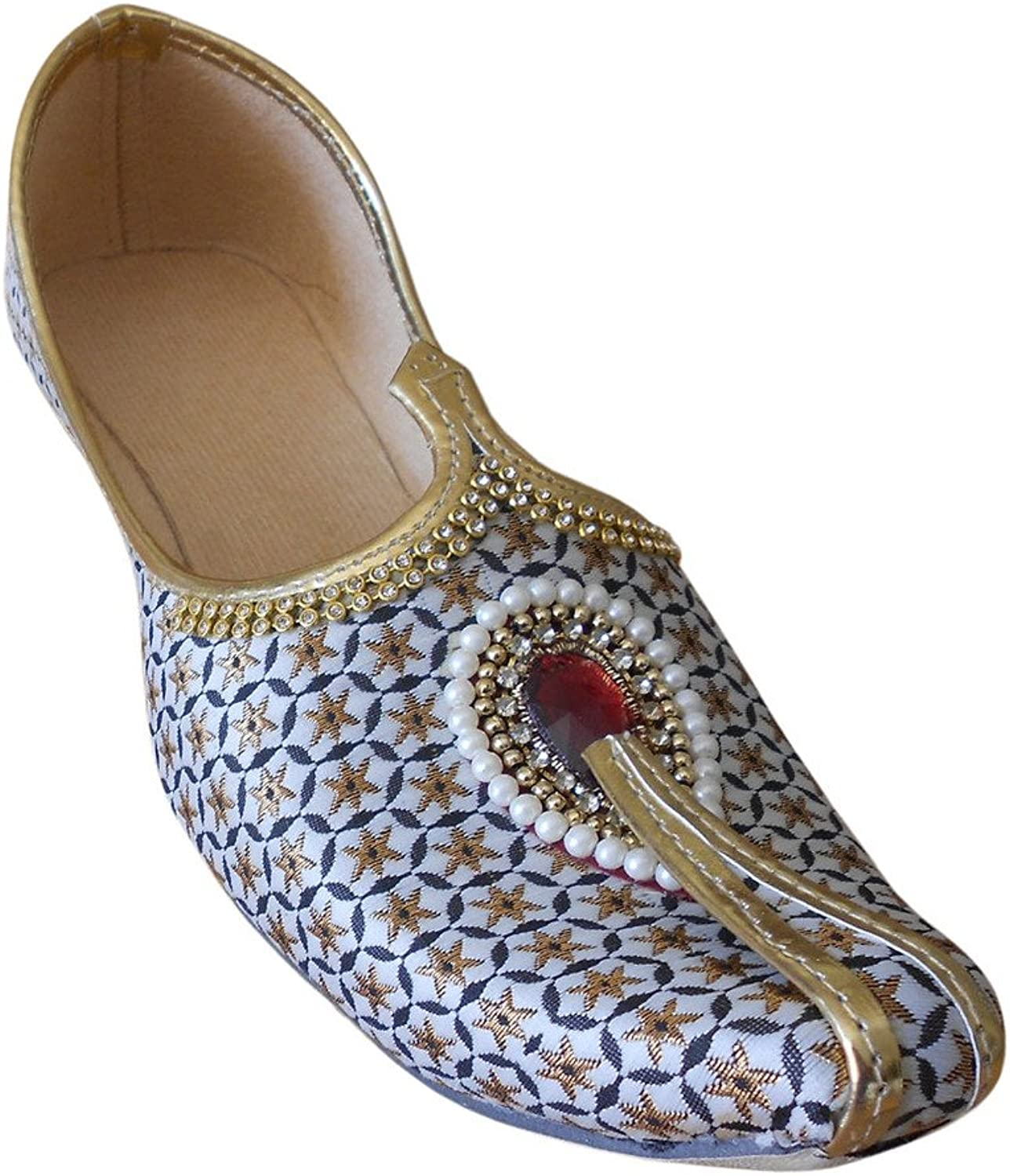 Kalra Creations Men's Mojari Traditional Indian Wedding shoes
