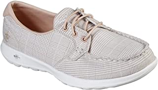 Skechers GO Walk Lite - Seacoast Boat Shoe, Natural/White, 7.5