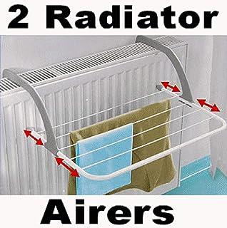 Tendedero para radiador, para secar ropa en el interior, 2 unidades