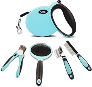 Sponsored Ad - TobeNpet 5 in 1 Dog Brush Set for Small/Medium Dog and Cat - 10 Feet Retractable Dog Leash, Dog Nail Clippe...