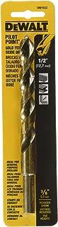 DEWALT DW1932 1/2-Inch Gold Ferrous Oxide Pilot Point Twist Drill Bit