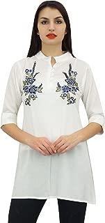 Phagun Stylish Tunic Beautiful Embroidery Design Cotton Modal Top Wear