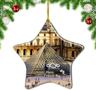 Weekino France Louvre Museum Paris Christmas Ornament Tree Decoration Hanging Pendant City Travel Souvenir Collection Gift