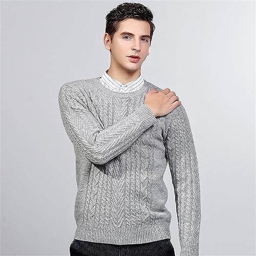 Jdfosvm la Mode Hiver Pull col, Le Cou en Pull, Jeune Fil Pull,gris,L