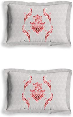 D'Decor Live Beautiful 136Tc King Fitted Sheet Set - Red