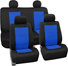 FH Group FB085BLUE114 Seat Cover Neoprene Blend Waterproof Seat covers Full Set with Bench Blue