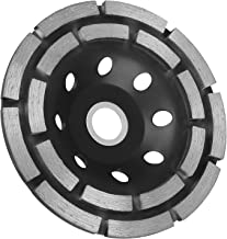 EEEKit 4-1/2-Inch Double-Row Diamond-Cup Grinding-Wheel Grinder Disc for Concrete, Granite,Stone, Marble et