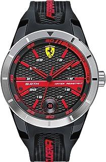 Ferrari Scuderia Red Rev T Men's Dial Silicone Band Watch - 830253