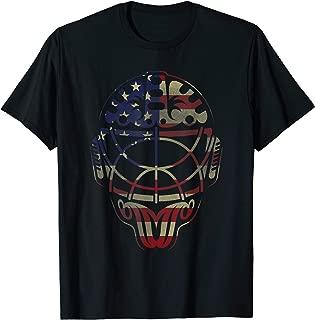 Vintage Hockey Goalie Mask US Flag T Shirt Gift For Boys Men