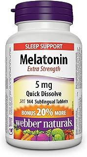 Webber Naturals Melatonin, Extra Strength, Quick Dissolve Tablet, 5 mg, 144 Count