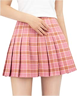US Size Plaid Skirt High Waist Japan School Girl Uniform Skirts